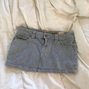 Vintage striped mini skirt
